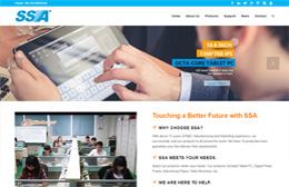 Shenzhen SSA Electronic Co Ltd外贸网站建设【商务型型】